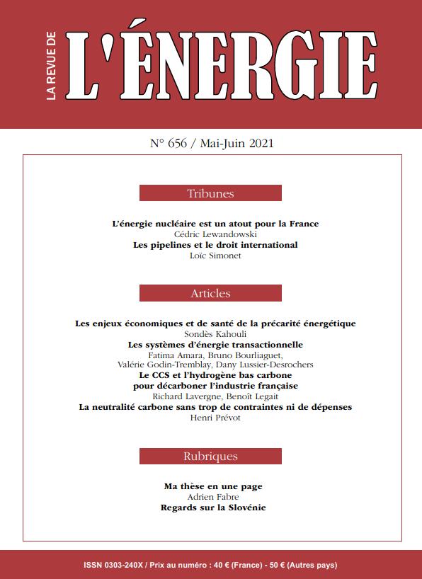 Read more about the article Le numéro de mars-avril 2021 de La Revue de l'Énergie
