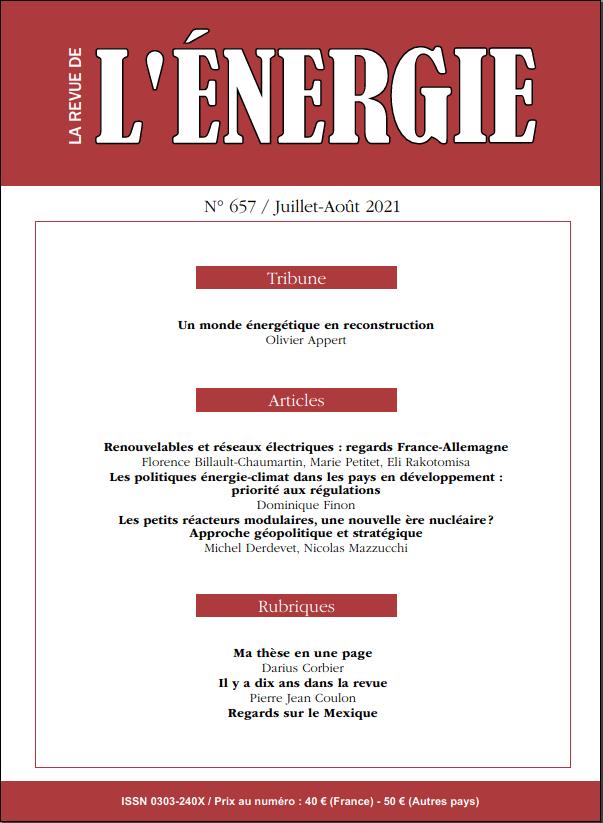 Read more about the article Le numéro 657 de La Revue de l'Énergie va paraître !
