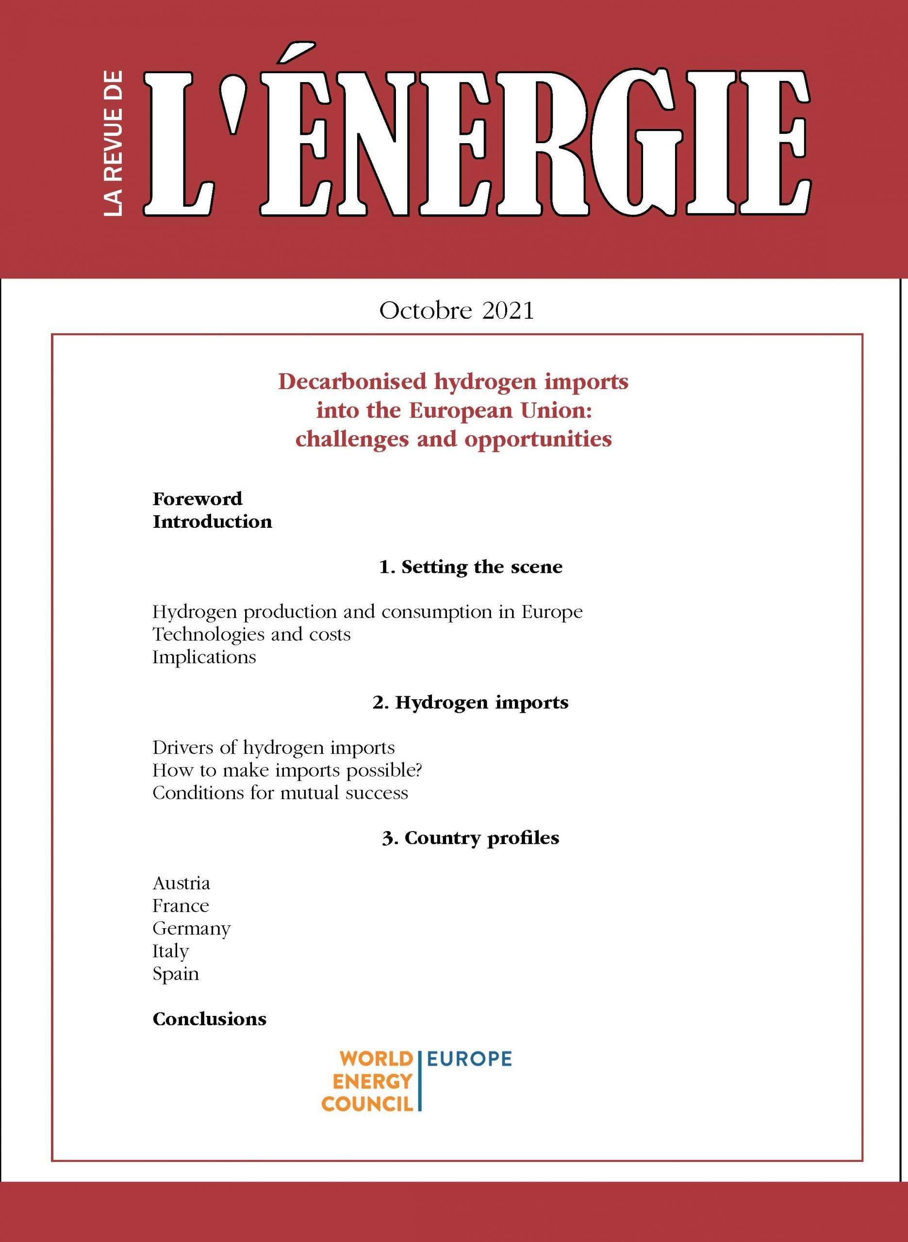 Read more about the article Les importations d'hydrogène décarboné en Europe : défis et opportunités